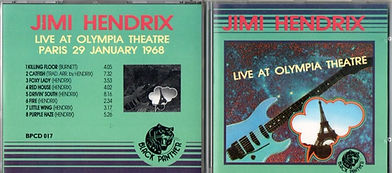 jimi hendrix bootlegs cds/black panther/live at olympia theatre paris 29 january 1968