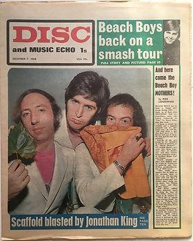 jimi hendrix newspaper 1968/ disc music echo  december 7 1968