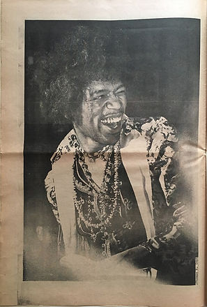 jimi hendrix newspapers: big fat  October 1970 / bold as love