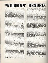 jimi hendrix collector magazine/wildman hendrix /flowerscene 11/1967