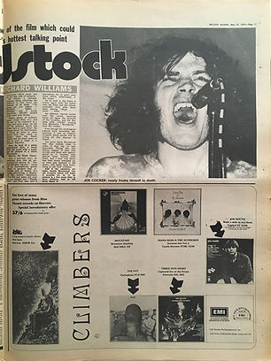 jimi hendrix newspapers 1970 / melody maker may 23, 1970
