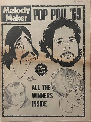 jimi hendrix newspapers 1969/melody maker september 20 1969 : pop poll '69