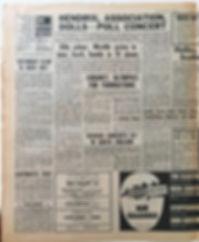 jimi hendix newspaper/new musical express april 13 1968