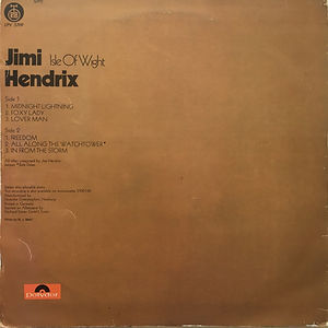 jimi hendrix vinyl album lps/isle of wight yugoslavia 1971 rtb
