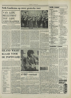 jimi hendrix newspapers 1970 / de vrije zeeuw