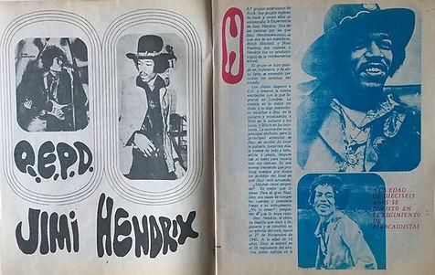 jimi hendrix magazines 1970 death/ ritmos  y canciones october 1970