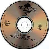 jim hendrix collector cd bootlegs/live in concert 1967 living legend 1988