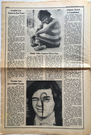 jimi hendrix newspaper 1968 / rolling stone october 12 1968
