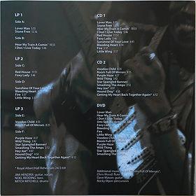 jimi hendrix bootleg vinyl / box : live at the royal albert hall