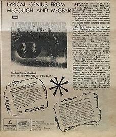 jimi hendrix album vinyl lp/ad:Mc gough & Mc gear