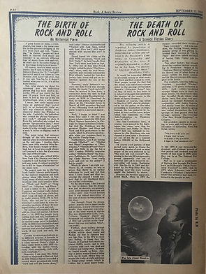 jimi hendrix newspapers 1969/rock 9/15/69   the death of rock & roll
