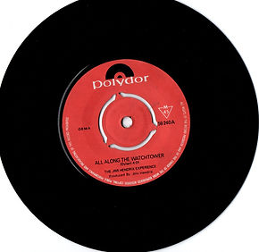 jimi hendrix collector sngles 45t vinyls/ all along the watchtower singapore 1969