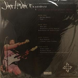 jimi hendrix bootleg vinyl album/live at san diego sports arena may 24 1969