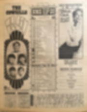 jimi hendrix newspaper/top 15 lps/axis bold as love N°13