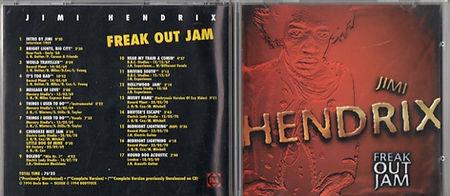 jimi hendrix bootlegs cds 1969/freak out jam