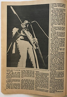 jimi hendrix magazine /hit parader part 3/ experiences with....
