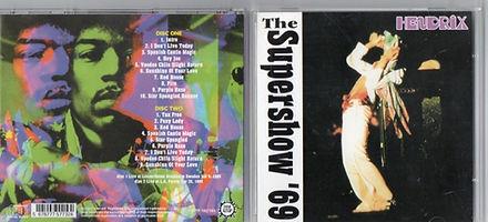 jimi hendrix bootleg cd/supershow'69
