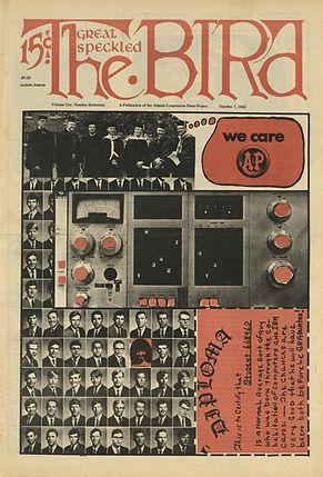 jimi hendrix newspaper 1968 / the great speckled bird 7/10/68