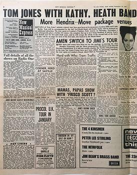 jimi hendrix collector newspapers/hendrix move package venues/jimi's tour