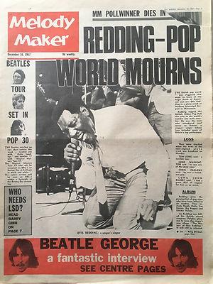 jimi hendrix newspaper/melody maker 16/12/1967