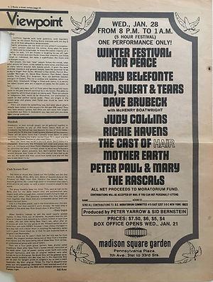 jimi hendrix newspaper 1970 / rock feb. 2, 1970