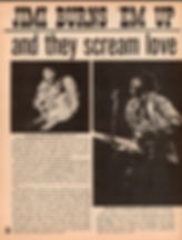 jimi hendrix magazine/movie teen illustrated/jimi burns 'em up and they scream love