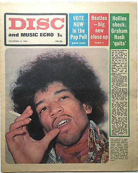 jimi hendrix newspapr 1968 november 16 1968/disc music echo