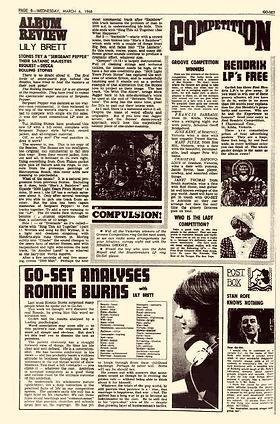 jimi hendrix newspaper 1968/  go-set march 6, 1968