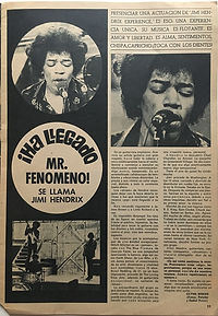 jimi hendrix magazines 1967/ fans march 27 1967 :Mr fenomeo!