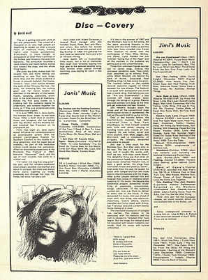 jimi hendrix newspapers 1970 / north west passage :  october 10  1970