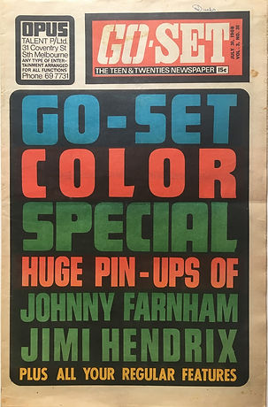jimi hendrix newspaper/go set july 31 1968