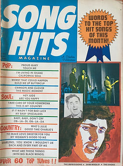 jimi hendrix magazines 1969 / song hits may 1969