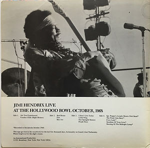 jimi hendrix vinyls bootlegs/live at the hollywood bowl 1968