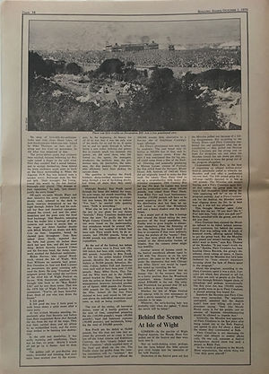 jimi hendrix newspapers 1970 / rolling stone october 1,1970 / isle of wight part2