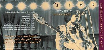 jimi hendrix cd bootlegs/dagger records family hendrix/live at clark  university