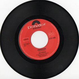 jimi hendrix collecto singles vinyls/freedom polydor 1971