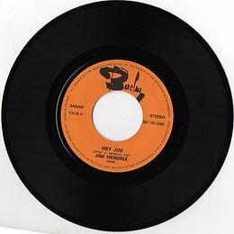 jimi hendrix singles reissue / hey joe belgum 1974