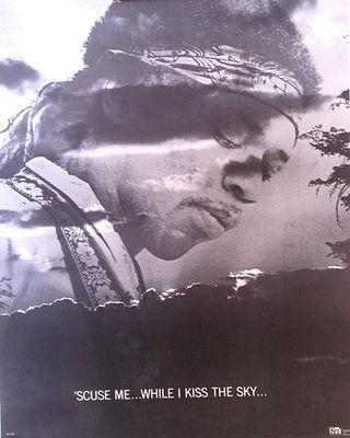 jimi hendrix memorabilia 1970 / poster 1971