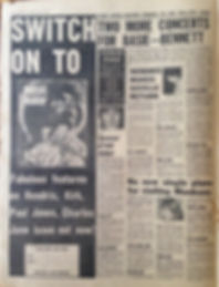 jimi hendrix collector newspapers/melody maker 20/5/1967