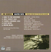 "jimi hendrix bootleg cd 1969/ master tapes ""message from nine to the universe sessions """
