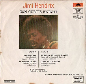 jimi hendrix vinyls ep/ mexico jimi hendrix con curtis knigh 1972 polydor