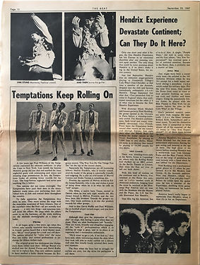 jimi hendrix collector newspapers/hendrix experience/devastate continent/can they do it here?