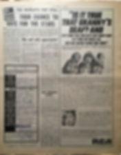 jimi hendrix newspaper 1968/new musical express /jimi hendrix story 16/11/68