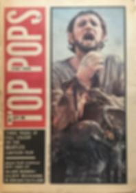 jimi hendrix newspaper/top pops july 27 1968