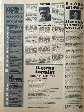 jimi hendix magazines 1967/bild oct. 25, 1967 : lp toppen'are you expereinced N°5