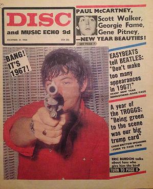 jimi hendrix newspaper/disc music echo 31/12/66