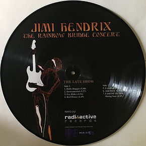 jimi hendrix bootlegs vinyls 1970 / the rainbow bridge concert / the late show side 2 picture disc