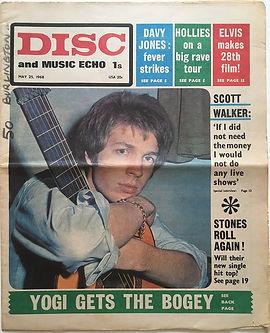 jimi hendrix newspaper/disc & music echo may 25 1968