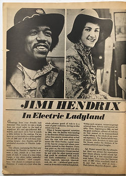 jimi hendrix magazine 1969/hit parader april 1969/electric ladyland:part1