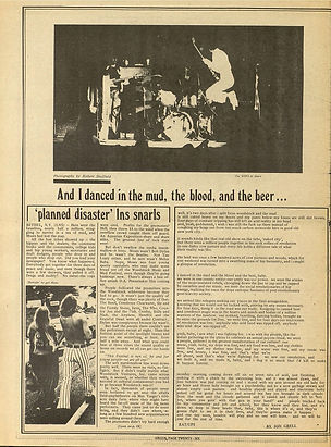 jimi hendrix newspape 1969/new arbor argus/ september 17 /october 2 1969
